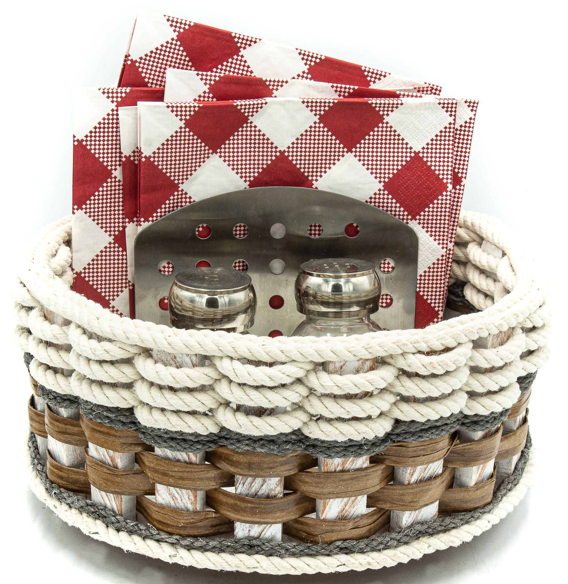 9 inch Lazy Susan Basket--Cottage Grey