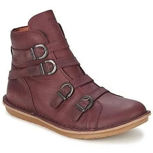 Fashion Buckled Comfy Flat Round Toe Boots