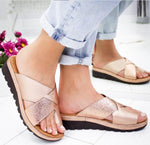 Casual Comfy Cross Strap Slip-On Slippers