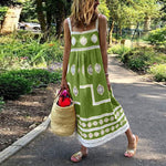 Casual Holiday Maxi Slip Dress