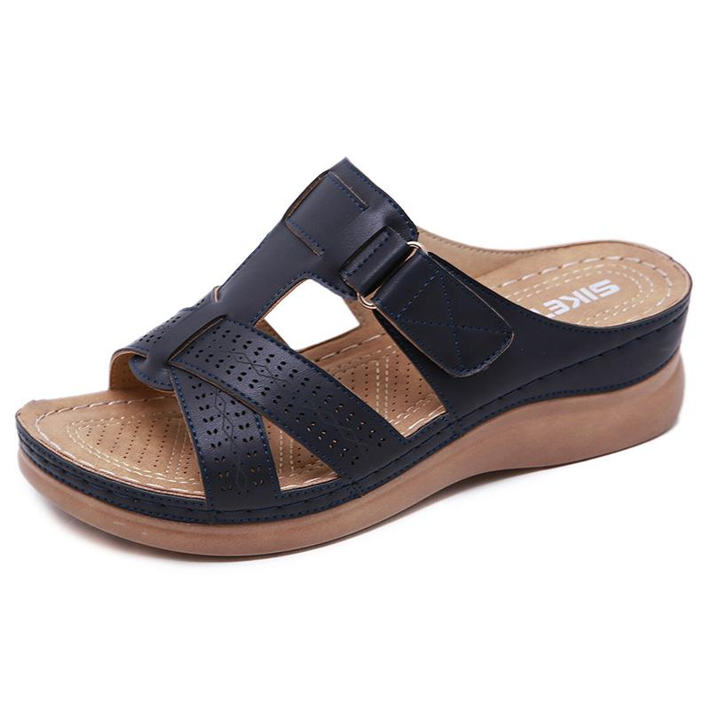 Summer Open Toe Comfy Walking Wedge Sandals Slippers