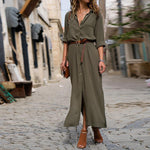 Long Sleeve Shirt Dress Loose Maxi Dress