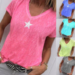 Casual Star Printed T-Shirts