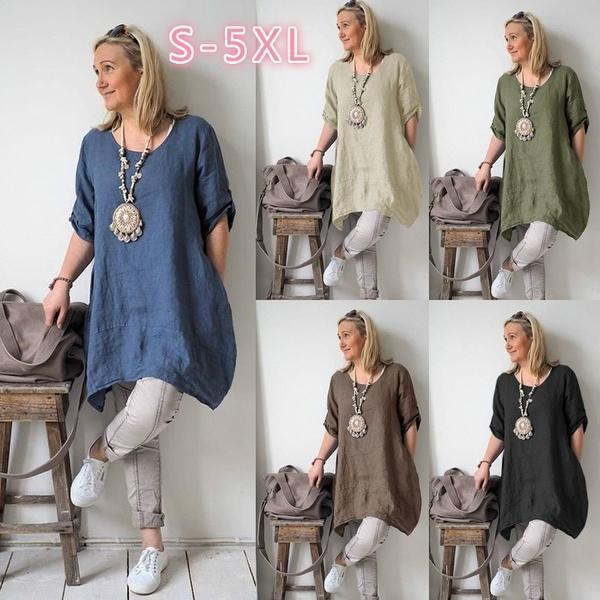 Casual Irregular Loose Fitting Dress Shirts