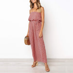 Fashion Striped Strapless Jumpsuit