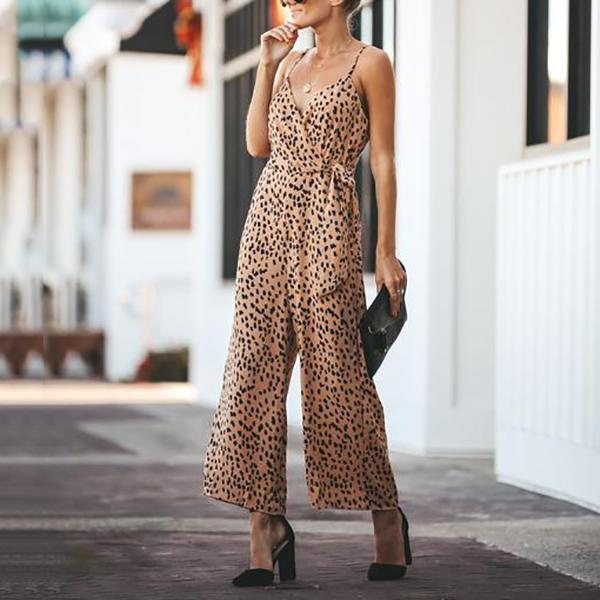 Fashion Sexy V Neck Jumpsuits