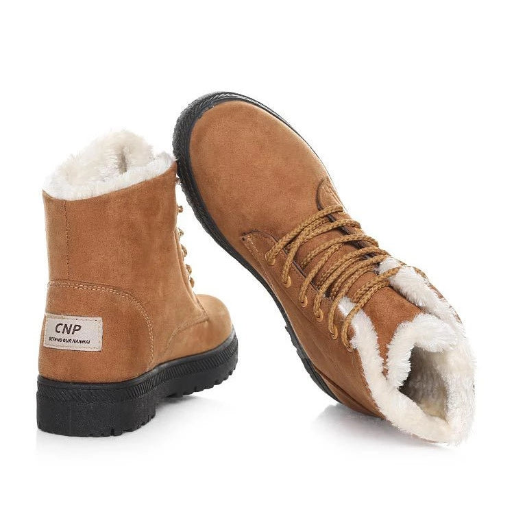 Womens Keep Warm Flat Ankle Snow Boots
