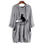 Cat Ear Hooded Side Pockets Sweatshirts