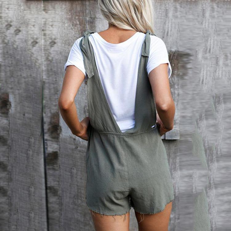 Casual Loose Backless One-piece Short Jumpsuits