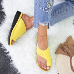 Simple Casual Platform Toe Ring Slippers
