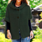 Women's Solid Color Buttons 1/2 Sleeve Sweaters