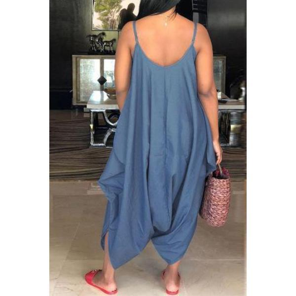 Plus Size Summer Loose Denim Jumpsuits