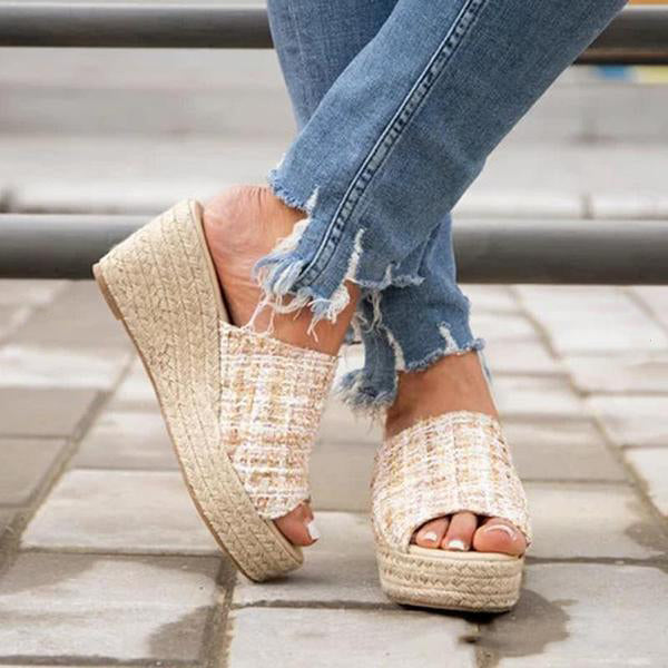Casual Espadrille Wedge Sandals Slippers