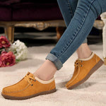 Womens Leather Casual Flat Soft Sole Lace Up Oxford Shoes