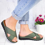Simple Fashion Solid Color Cross Strap Slippers