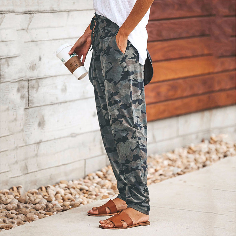 Casual Camouflage Printed Pants