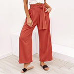 Women's Casual Strap Wide Leg Pants