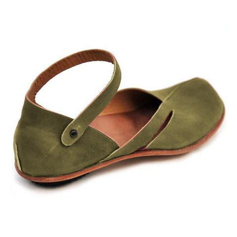 Women Casual PU Leather Flat Sandals