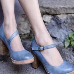 Lace-up Thick Heel Shoes