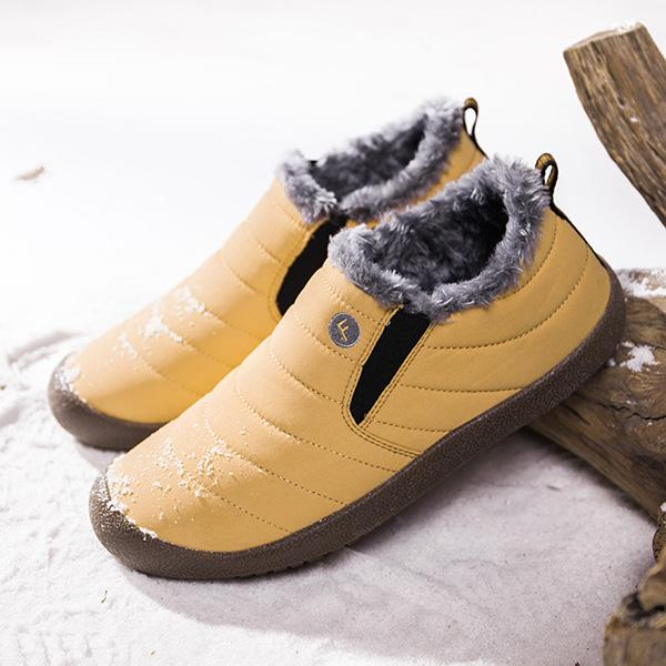 Large Size Waterproof Warm Cotton Snow Boots Lovers Shoes - RoseNova