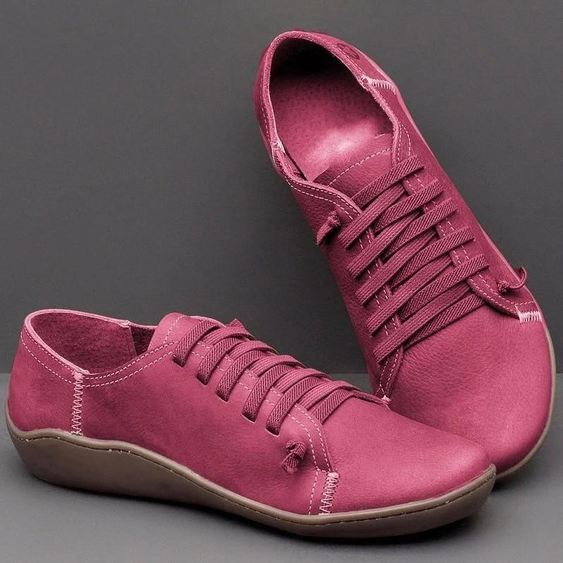 Casual Soft Sole Breathable Lace-up Flat Shoes