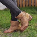 Chunky Heel Fashion Boots for Women
