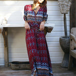 Behemia Printed Button Down Maxi Dress