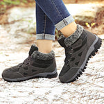 Large Size Women Hook Loop Outdoor Sneakers Ankle Warm Suede Boots