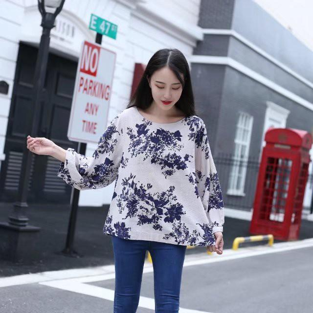 Casual Cotton Ethnic Shirt Floral Print Blouse - MagCloset