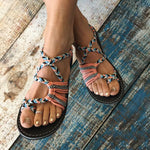 Braided Flat Beach Sandals