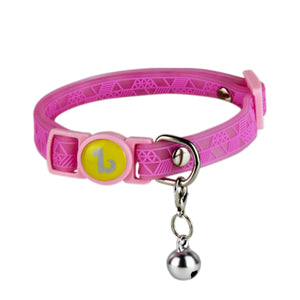 Be One Breed Adjustable Silicone Cat Collar Pink va1