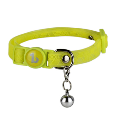 Be One Breed Adjustable Silicone Cat Collar Yellow va1
