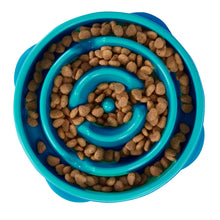 Load image into Gallery viewer, Outward Hound Fun Feeder Slow Feeder Teal Mini