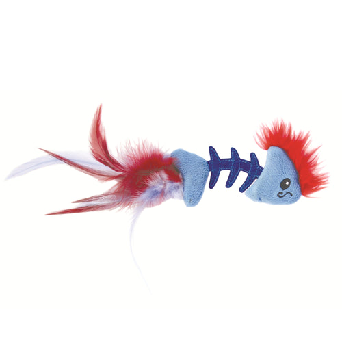 Petstages Feather Fish Bone Cat Toy