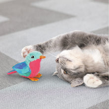 Load image into Gallery viewer, cat playing with kong crackles tweetz bird