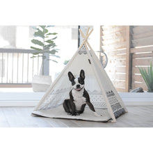 Load image into Gallery viewer, Dog sleeping in BeOneBreed Teepee for Dogs