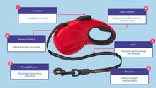 Load image into Gallery viewer, Halti Retractable Leash Info va-
