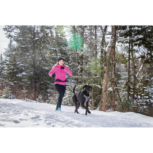 Jogging with BeOneBreed Running Belt & Leash