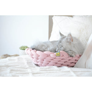 Cat Sleeping  in Be One Breed Cat Knit Bed