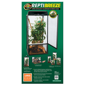 ReptiBreeze® Open Air Screen Cage - Large