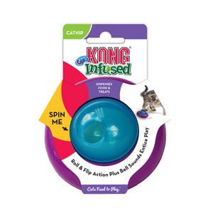 kong infused cat gyro treat dispensing toy