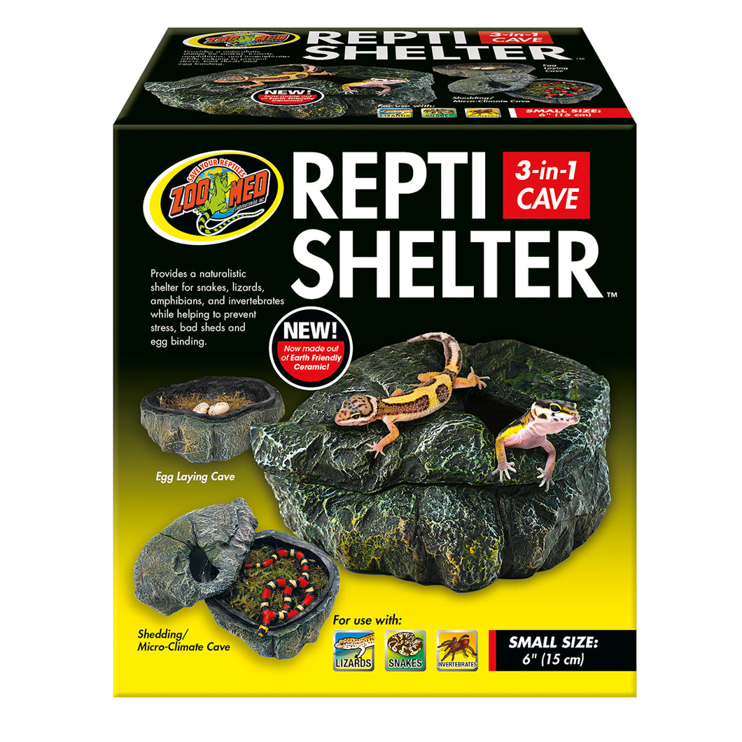 Repti Shelter™ 3-in-1 Cave - Small