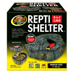 Repti Shelter™ 3-in-1 Cave - Medium