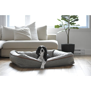 Dog sleeping in Be One Breed Snuggle Dog Bed - Memory Foam
