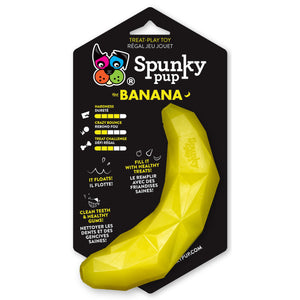 Spunky Pup Fruit Shaped Treat Dispenser Toys Banana