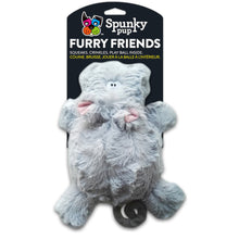 Load image into Gallery viewer, Spunky Pup Furry Friends Dog Toy Elephant