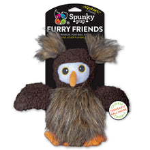 Load image into Gallery viewer, Spunky Pup Furry Friends Dog Toy Owl