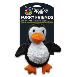 Spunky Pup Furry Friends Dog Toy Penguin