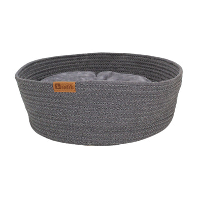 Be One Breed Cat Cuddler Cushioned Bed Grey va0