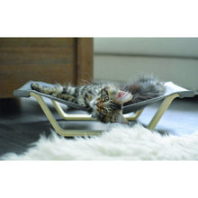 Load image into Gallery viewer, Cat sleeping on be one breed wooden hammock va0